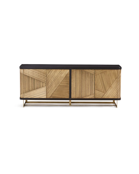 Kendrix Gold Metal Wrapped Console