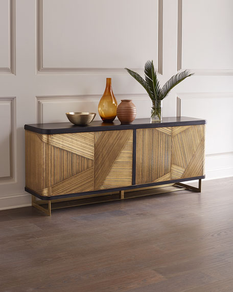 Hooker Furniture Kendrix Gold Metal Wrapped Console