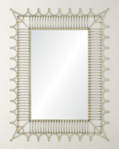 Antiqued Iron Silver Mirror