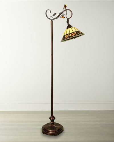 Pebble Stone Tiffany Downbridge Floor Lamp