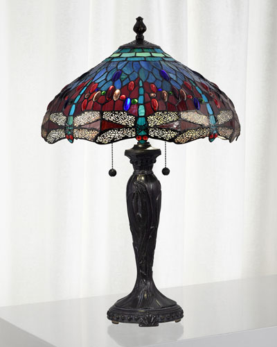 Gilder Dragonfly Tiffany Lamp