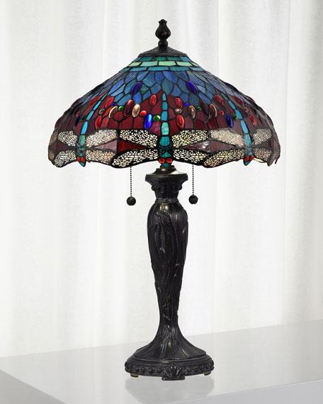 Gilder Dragonfly Tiffany Lamp
