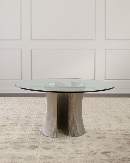 Serpentine Round Dining Table 60""