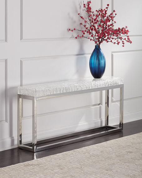 Bernhardt Elsa Arctic Console Table