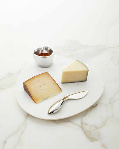 Cortina Marble Cheese Board with Dip Dish & Cheese Knife