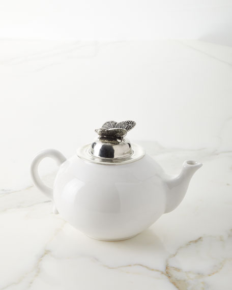 Ceramic Pewter Teapot