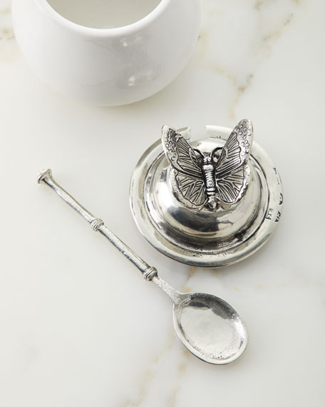 Ceramic Pewter Honey Holder