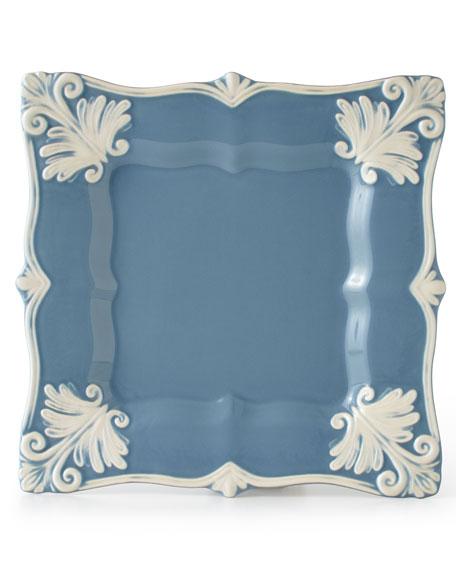 12-Piece Blue Square Baroque Dinnerware Service