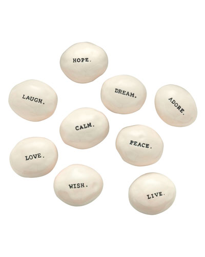 Classic Word Stones  Set of 9