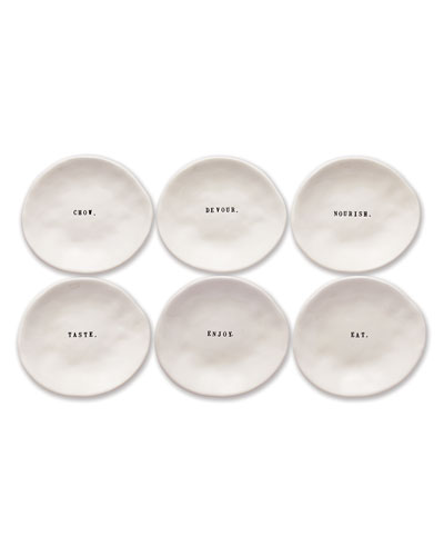 Classic Eating Dishes  Set of 6