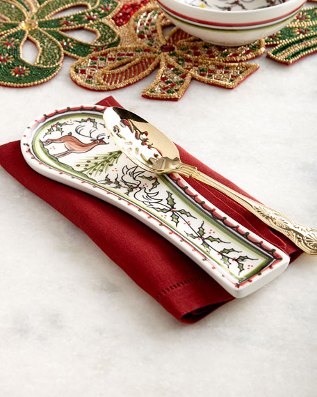 Christmas Pavoes Spoon Rest