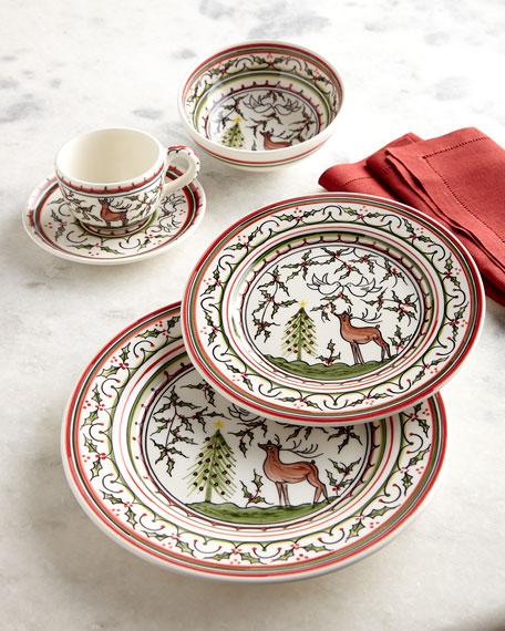 Neiman Marcus Christmas Pavoes 20-Piece Dinnerware Set