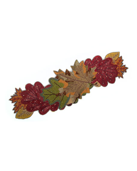MacKenzie-Childs Autumn Leaves Table Runner