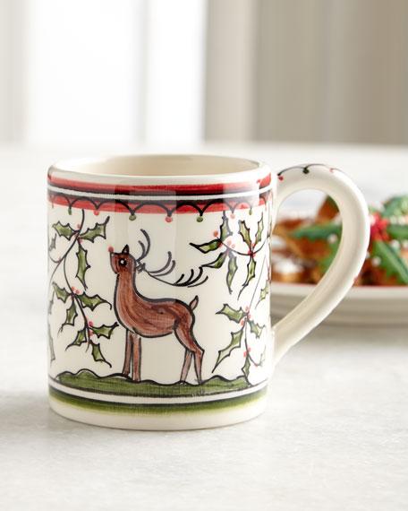 Christmas Pavoes Mugs, Set of 4