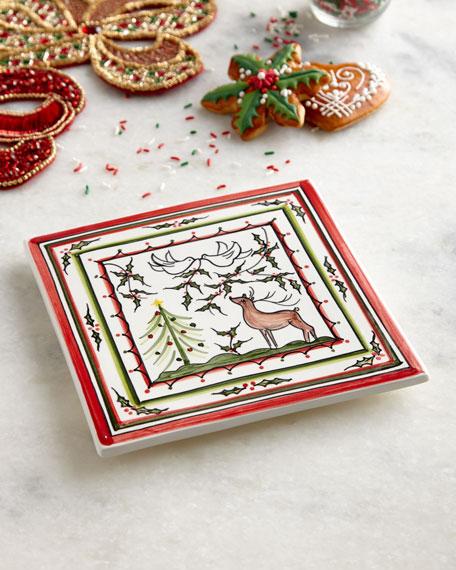 Keramos Nazari Christmas Pavoes Trivet