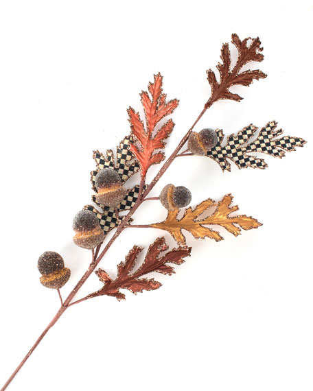 MacKenzie-Childs Acorn and Oak Leaf Stem