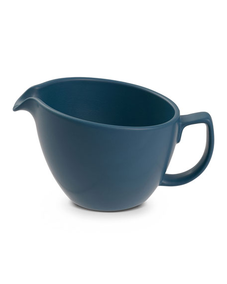 Nambe Cream Pitcher, Aurora Blue
