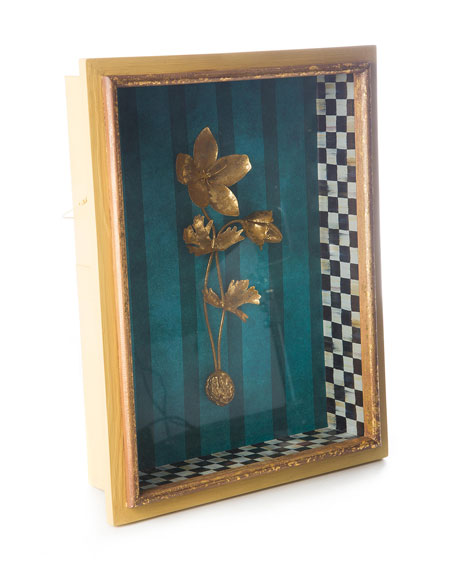 MacKenzie-Childs Moonlight Garden Anemone Shadow Box