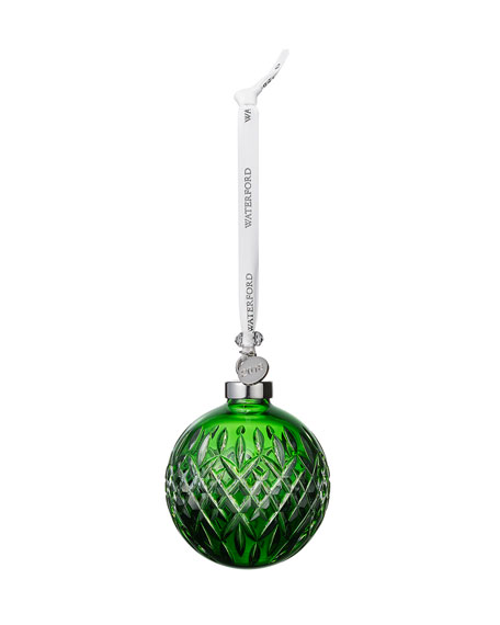Faceted Ball Ornament, Emerald