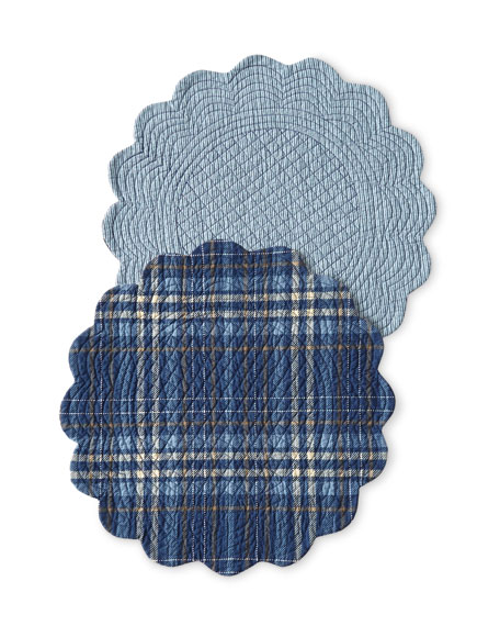 Anthony Navy Round Placemats, Set of 4