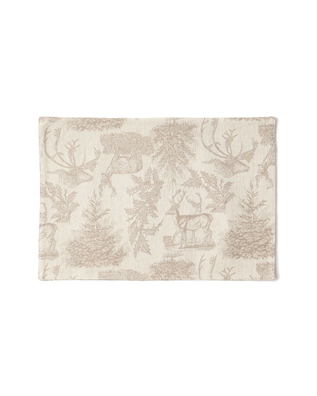 Jacquard Stag Clay Placemats, Set of 4
