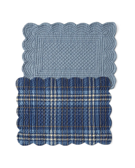 Anthony Navy Placemats, Set of 4