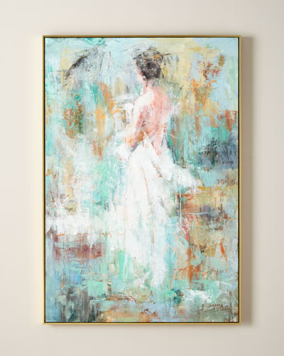 Woman In Ivory Giclee Canvas Art by Sasha
