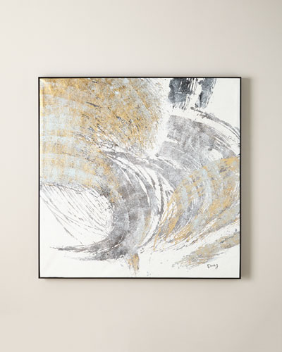 Golden Wave Oil Painting by Dong