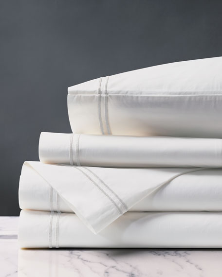 Enzo Queen Sheet Set, White