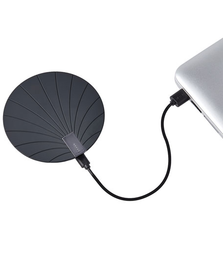 Bali Extra-Slim Wireless Charger with Built-In USB Cord