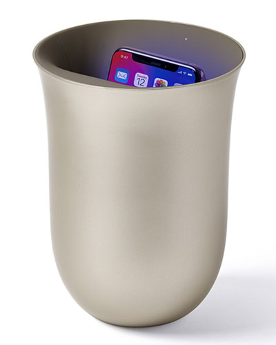 Oblio Wireless Charging Station with Built-In UV Sanitizer