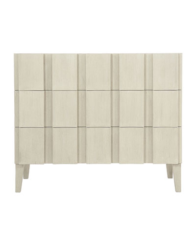 East Hampton Linen Fold Hall Chest