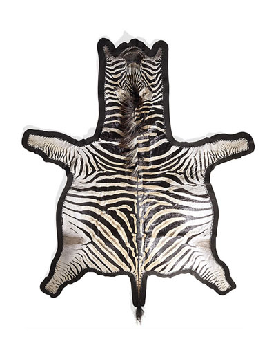 Zebra Hair Hide Rug  8.5' x 6.5'