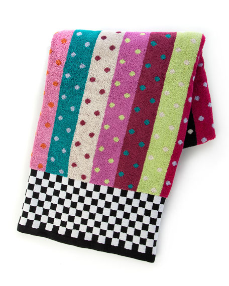MacKenzie-Childs Ribbon & Dot Bath Towel