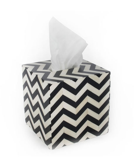 MacKenzie-Childs Piazza Boutique Tissue Box Holder