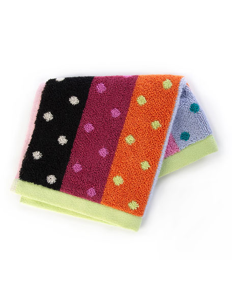 Ribbon & Dot Washcloth
