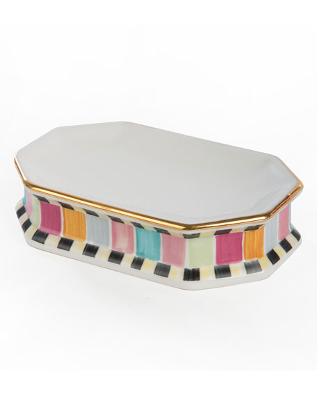 MacKenzie-Childs Ribbon & Dot Soap Dish