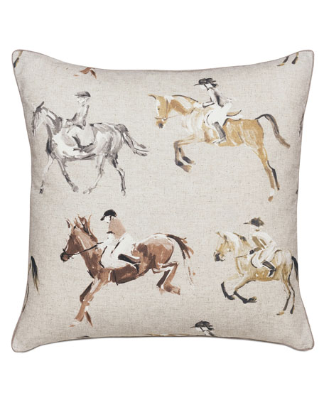Jockey Equestrian Decorative Pillow