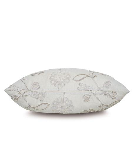 Clarion Silver Decorative Pillow