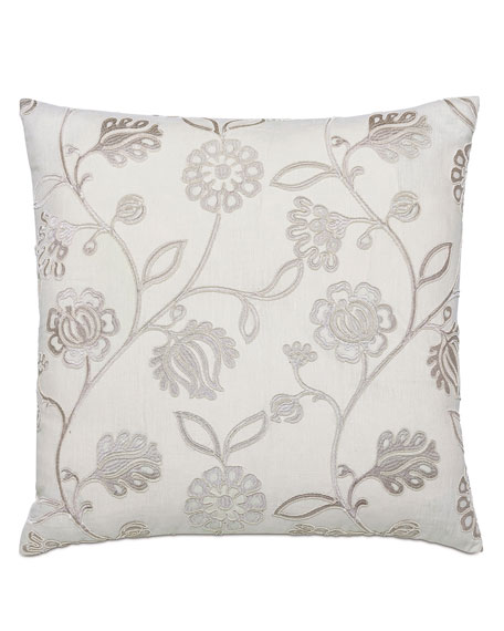 Clarion Silver Decorative Pillow