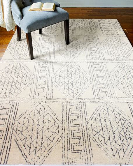Logan Village Hand-Tufted Rug, 9' x 12'