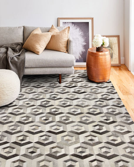 Clovis Hair in Hide Rug, 5' x 8'