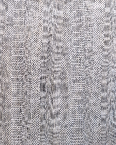 Exotic Gray/Silver Rug, 6' x 9'