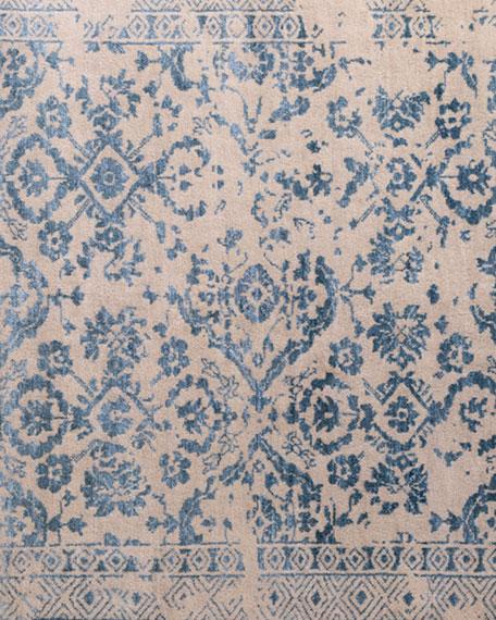 Lourdes Beige/Turquoise Rug, 6' x 9'