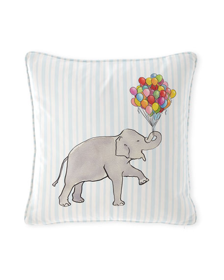 Elephant Stripe Pillow, 20""