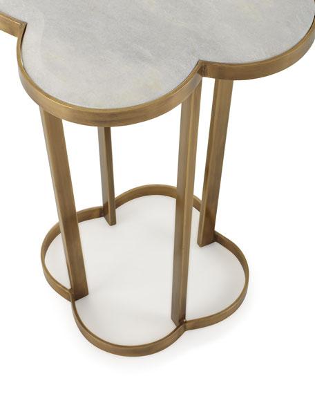 Brass Clover Side Table