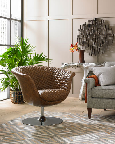 Autumn Quilted Swivel Chair