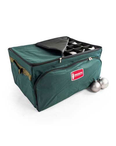 3-Tray Ornament Storage Bag with Front Pocket