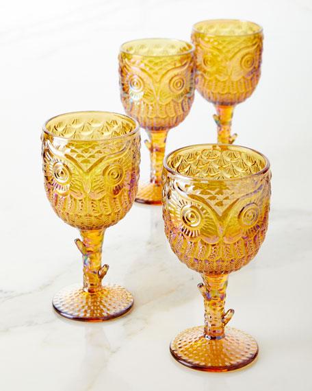 Owl Goblets, Set of 4