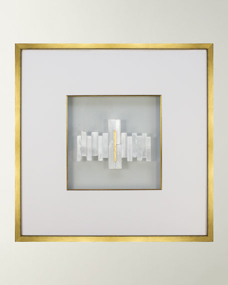 Beatrice Selenite Crystal & Gold Leaf Wall Art